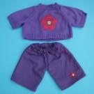 Sweater floreado y pantalón