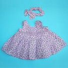 Vestido lila campestre